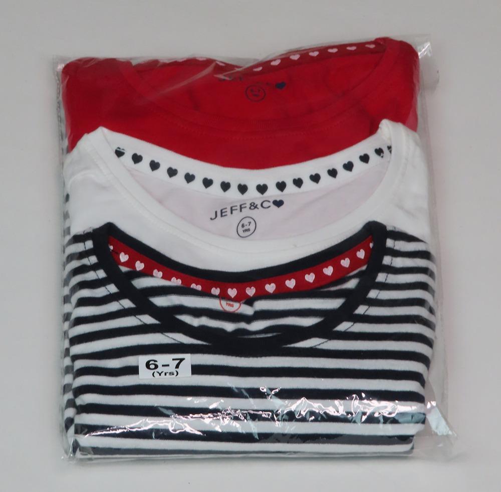 Girls Printed T Shirts 3 pack
