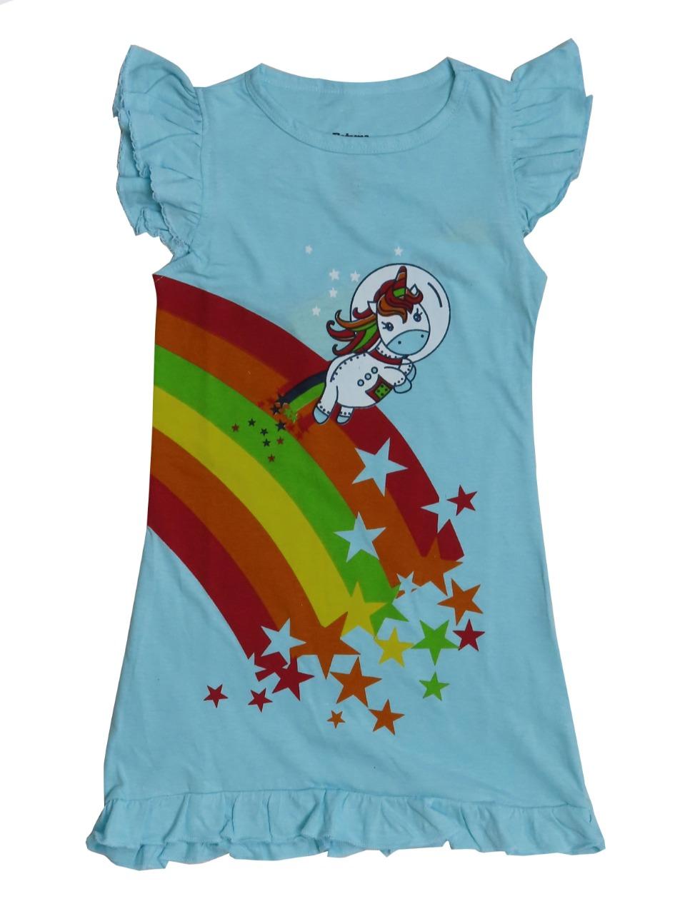 Rainbow Printed Girls  Nightshirt