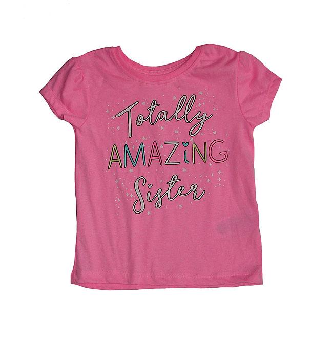 Baby Girls Short Sleeve Printed Tops