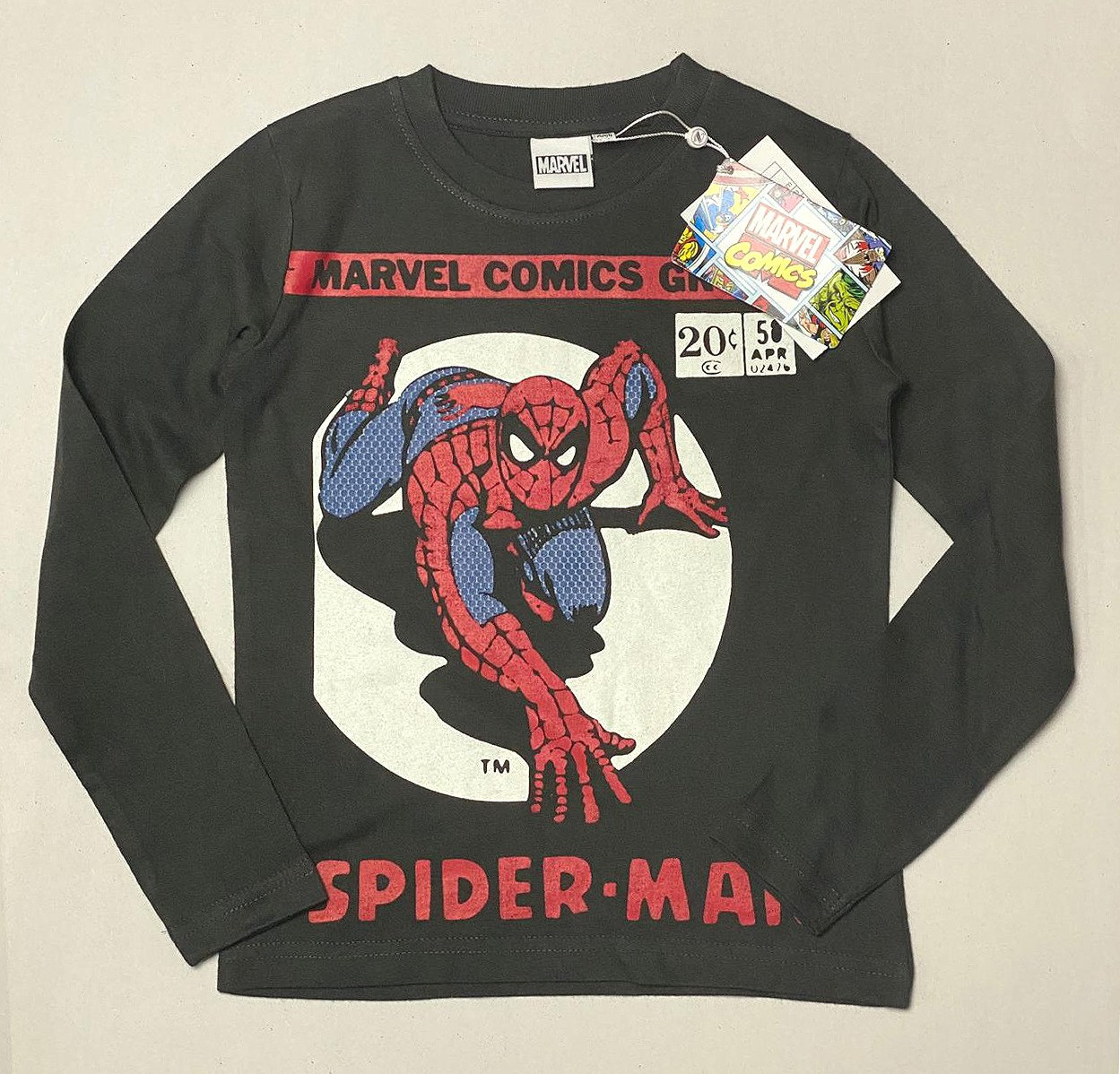 SPIDERMAN Boys Long Sleeve  T Shirt