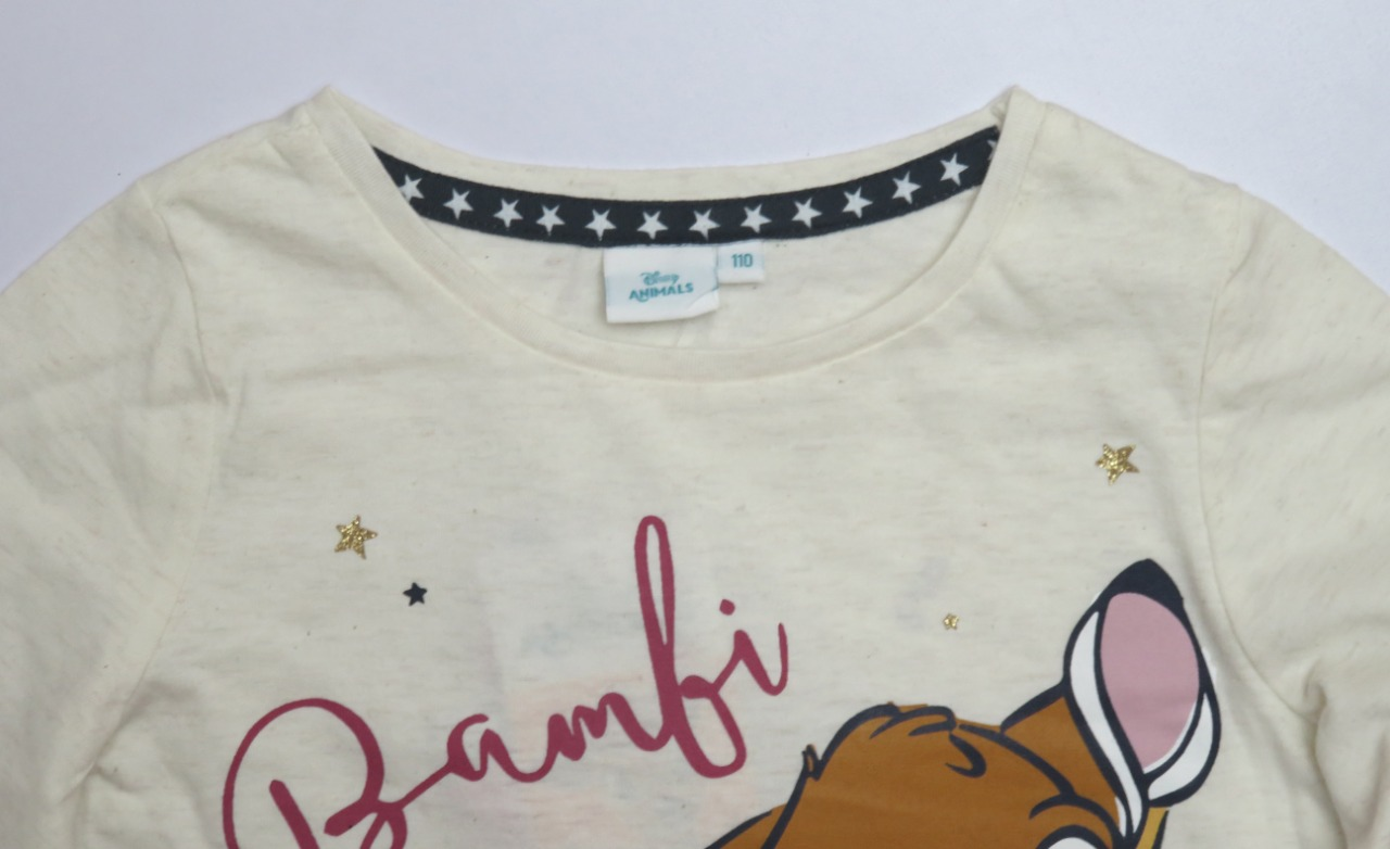 DISNEY Bambi Girls Glitter Printed T Shirt
