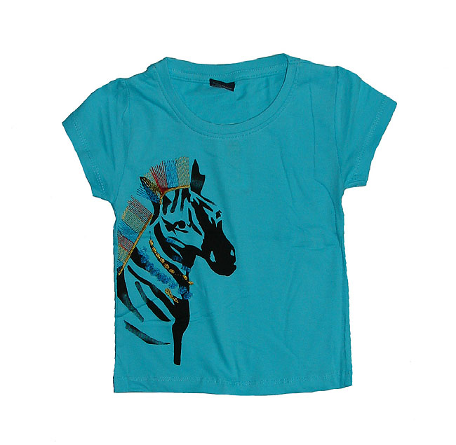 Baby Girls Short Sleeve Printed Top