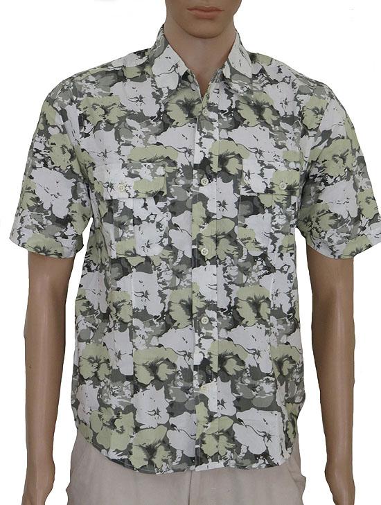 Mens Printed Woven Cotton Shirt