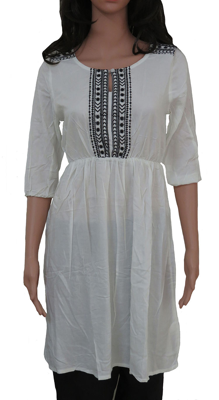 Zara Ladies Viscose Woven Embroidery Dress