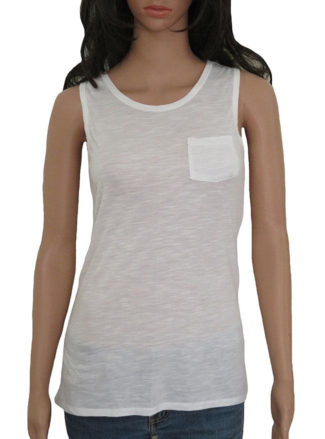 Ladies Longline Tank Tops with Pocket