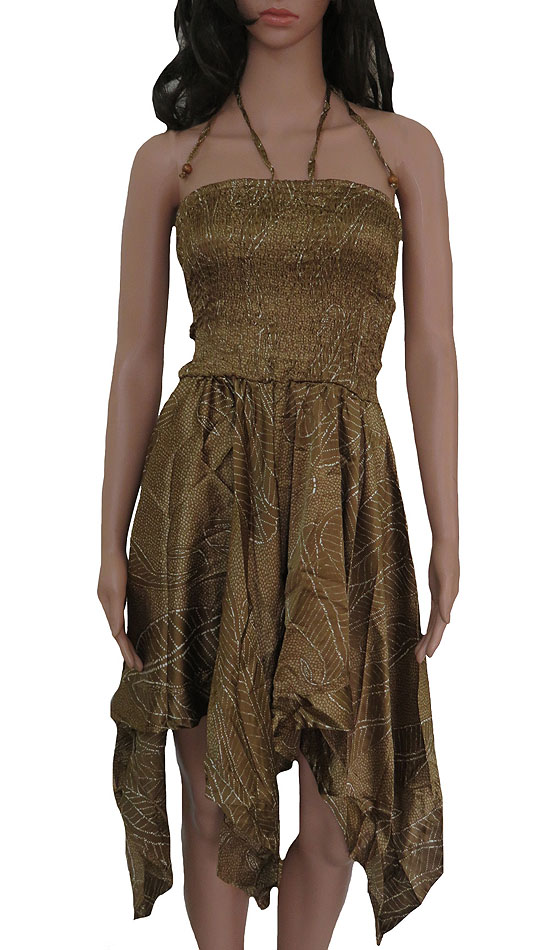 Ladies Polyester Woven Tube Dress
